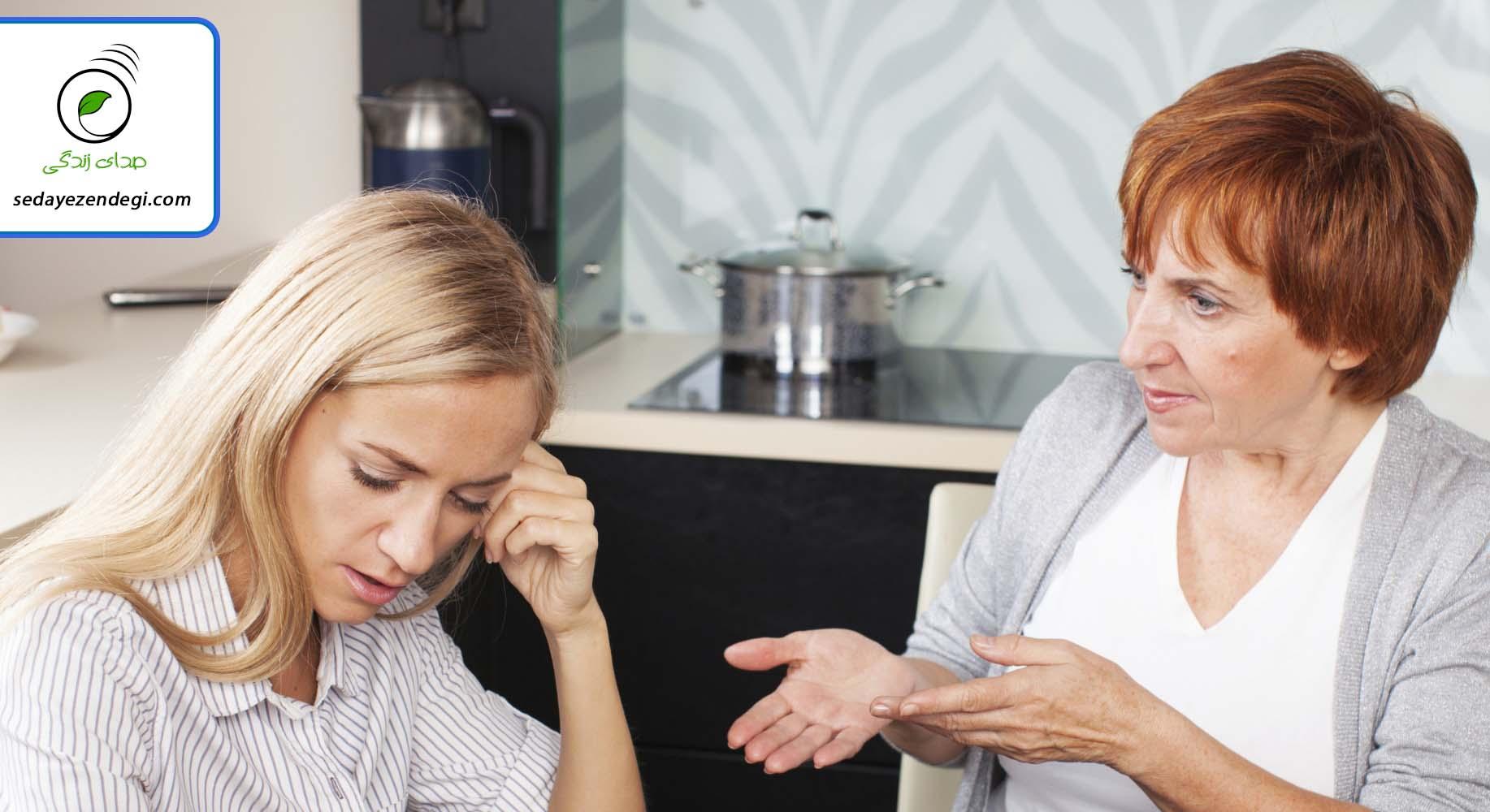 با دخالت های خانواده همسرم چه کار کنم؟!